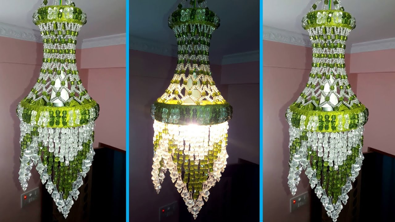 How to make jhumar at home wall hanging decoration beaded how to make jhumar at home wall hanging decoration beaded chandelier home decorating ideas arubaitofo Gallery