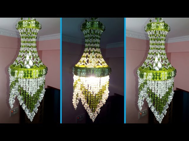 How To Make Jhumar At Home   Wall Hanging Decoration   Beaded Chandelier   Home Decorating Ideas