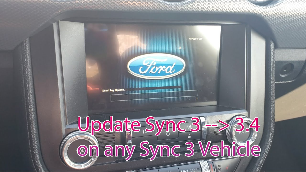 Update Ford Sync 3 To 3 4 Guide Mustang Lincoln Etc Youtube