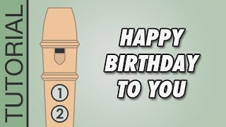 Happy Birthday to You - Recorder Notes Tutorial