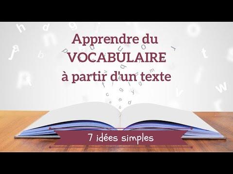 7 idées pour apprendre du vocabulaire ( à partir d'un texte)