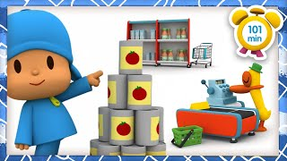 🛒POCOYO in ENGLISH - Shopping at the Supermarket [101 min] Full Episodes |VIDEOS & CARTOONS for KIDS