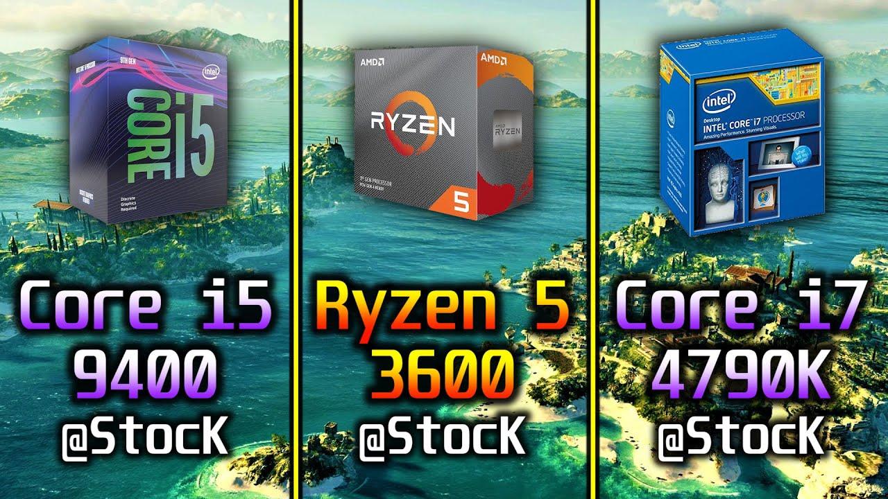 Core i5 9400 vs Ryzen 5 3600 vs Core i7 4790K   1080p and 1440p PC Gaming Benchmark