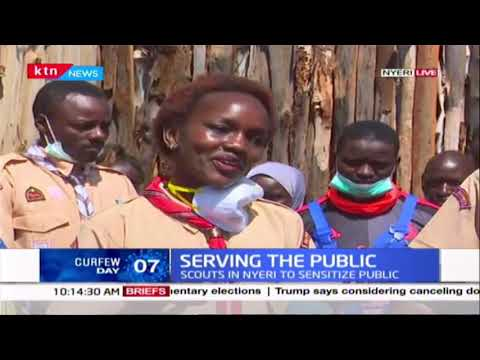 Serving the public: Scouts in Nyeri to sanitize the public as part of fighting COVID-19