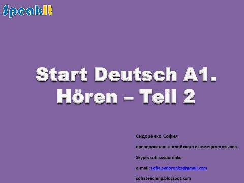 Start Deutsch A1 - Hören Teil 2