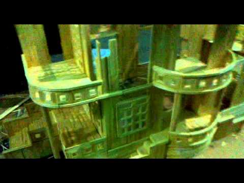 mô hình nhà bằng tăm tre_mặt ngu