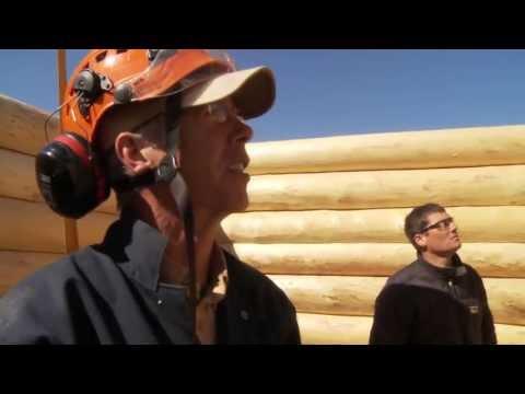 Energy efficient log cabin construction: Nenana, Alaska
