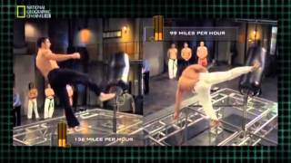 National Geographic Fight Science Stealth Fighter   The Kick Test feat  Capoeira