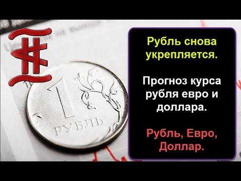 Смотреть Рубль снова укрепляется. Прогноз курса рубля евро и доллара.  Рубль, Евро, Доллар. онлайн