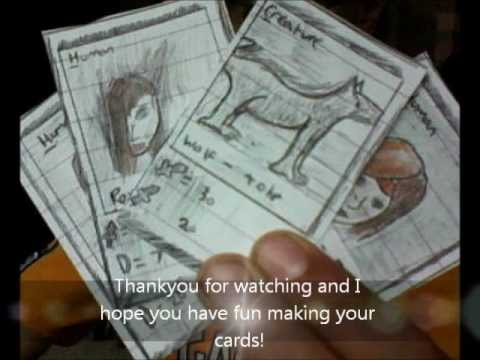 how to create your own card game youtube