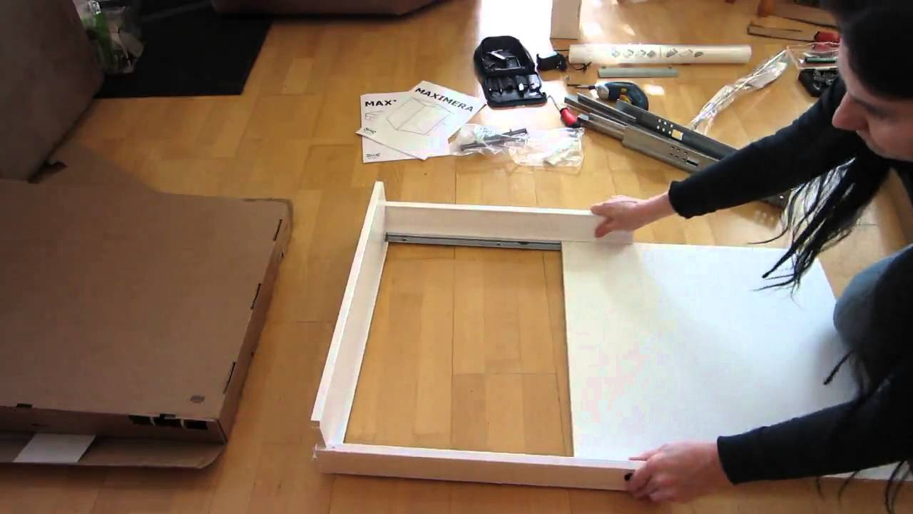 Ikea Küche Schublade | Tutorial Ikea Maximera Mittel 15 Cm Kuchenschublade Zusammenbauen