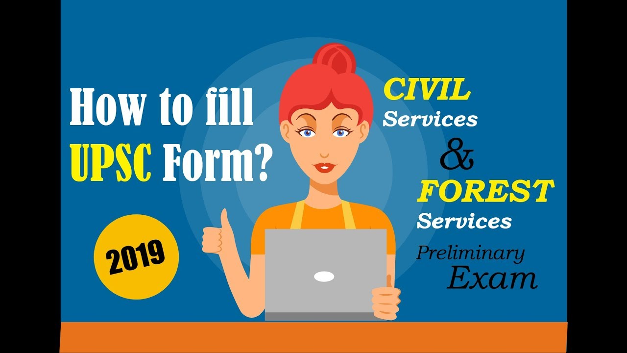 UPSC form filling 2019 for CSP and Forest Exam Synergy Study Point