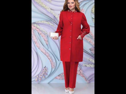 #наряднаяодежда #большойразмер #NINELE7301 Брючный комплект с жилеткой и шифоновой блузкой plus size