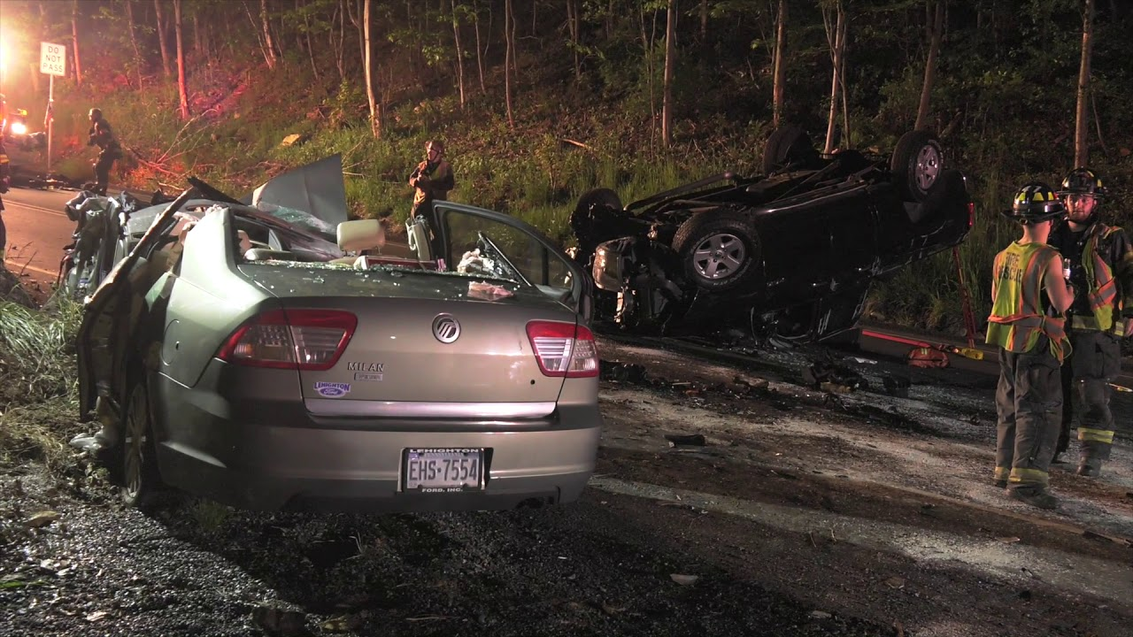 AFTERMATH of a serious Head-on Crash in Pennsylvania