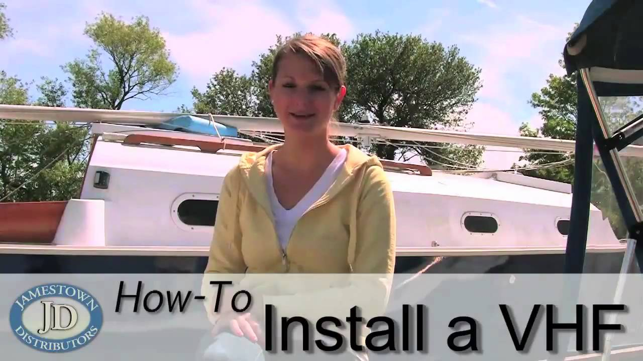 How To Install A Vhf Radio Youtube Uniden Marine Wiring Diagram