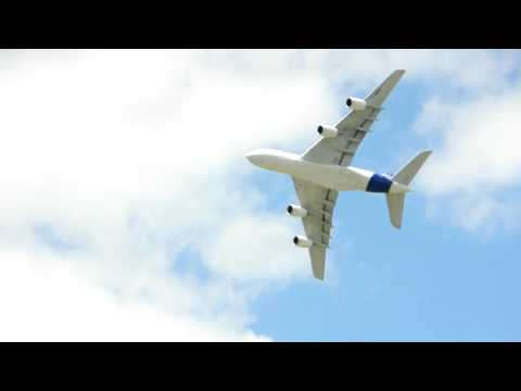 Le Bourget - Airbus A380 in the sky, fighter Jets on the ground