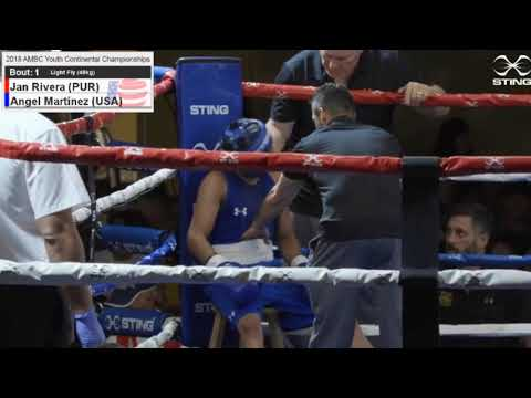 1) 49kg Jan RIVERA (PUR) Vs Angel MARTINEZ (USA) - Final Continental AMBC 2018