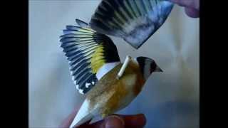 Incredibly realistic 3d papercraft bird