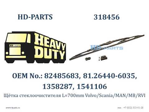 318456 Щётка стеклоочистителя L=700mm Volvo/Scania/MAN/MB/RVI