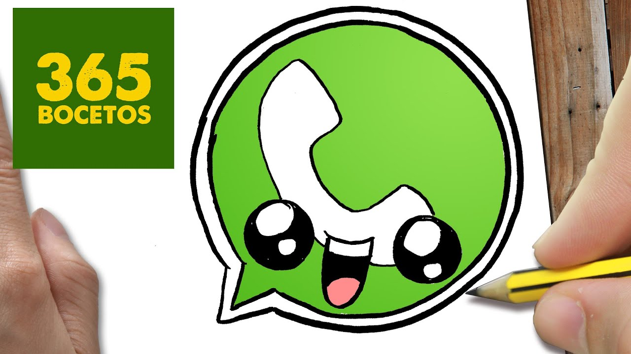 Como Dibujar Logo Whatsapp Kawaii Paso A Paso Dibujos Kawaii Faciles How To Draw A Logo Whatsapp