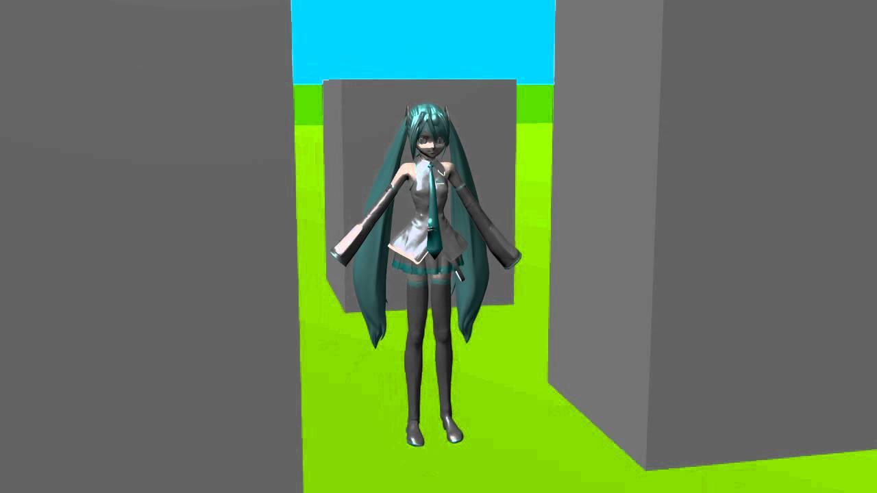 [MMD / Blender] Growing Giantess Miku -Test 1- by GTSChamp