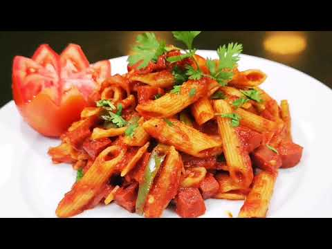 SPICY SAUSAGE RECIPE I PENNE PASTA I AT HOME I HOW TO