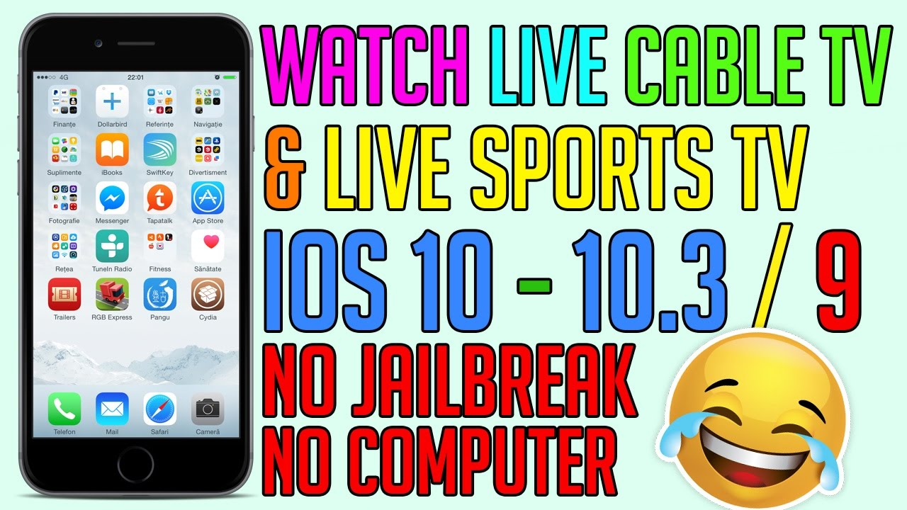 how to watch live cable tv sport tv on ios 10 9 for free no jailbreak iphone ipad ipod. Black Bedroom Furniture Sets. Home Design Ideas