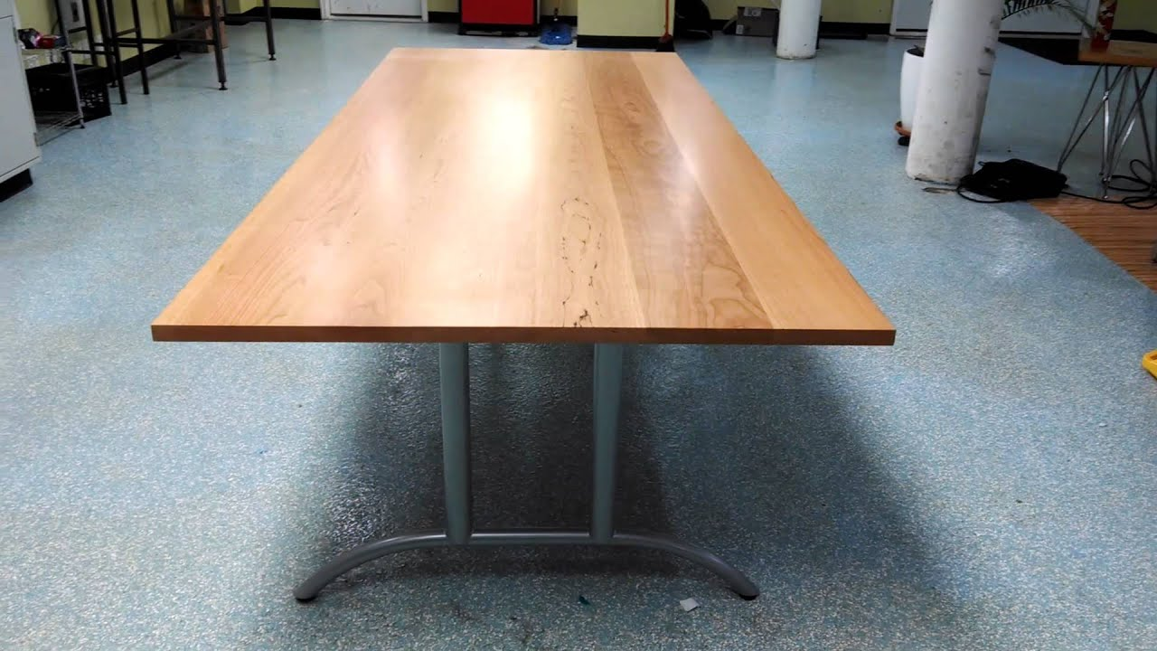 Custom Cherry Conference Table With Metal Legs YouTube - Metal conference table legs