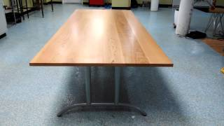 Custom Cherry Conference Table With Metal Legs