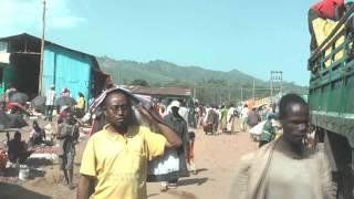 Driving in Jinka town, southern Ethiopia