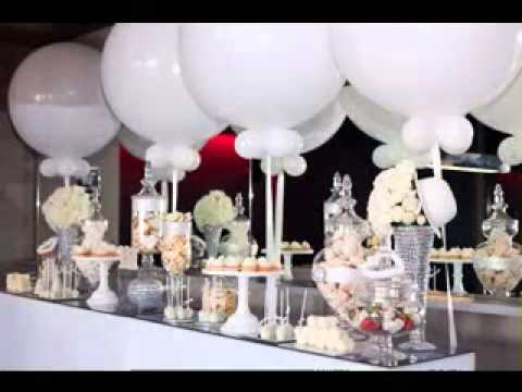 All white party decor ideas youtube for All white party decoration