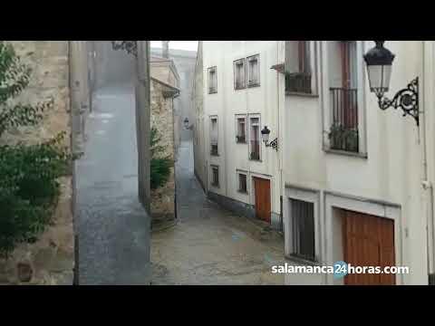 Tromba de agua y granizo en Ciudad Rodrigo