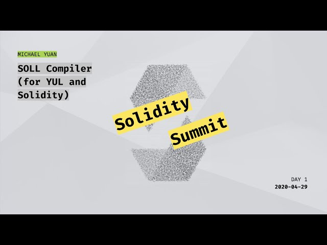SOLL Compiler (for YUL and Solidity) by Michael Yuan