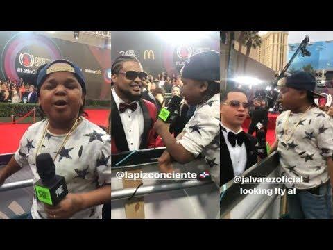 Pio La Ditingancia en la alfombra roja de los Latin Grammy 2017