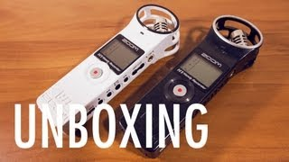 unboxing zoom h1 white special edition handy recorder