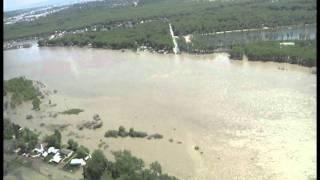 Aerial Missouri Riv South of Bis-Man(1of2) June 5, 2011