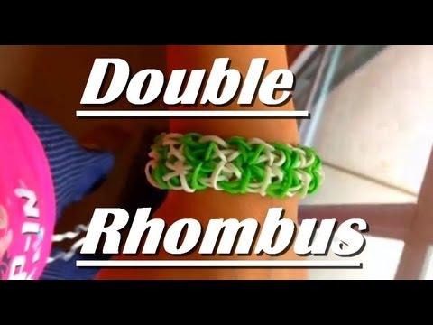 How to Make The Double Rhombus Rainbow Loom Bracelet - YouTube