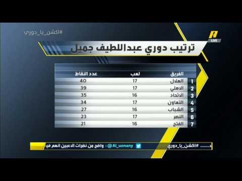 اكشن يا دوري - 15 فبرلير 2016  - ترتيب الفرق دوري عبد اللطيف جميل  بعد خسارة الهلال
