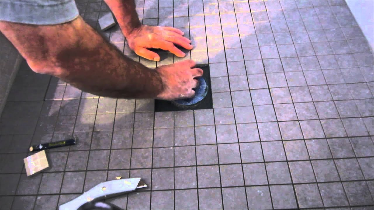 684f25b16 How to install ceramic tile on a shower floor. - YouTube