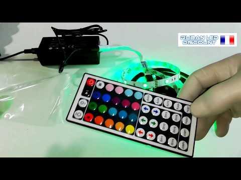 Kit ruban LED RGB 5050 télécommandé de 1 à 10m vidéo
