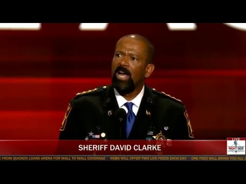 Sheriff David Clarke EXPLOSIVE Speech at Republican National Convention (7-18-16)