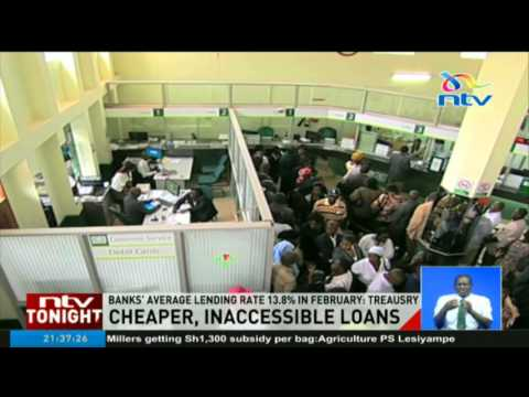 Banks' average lending rate 13.8% in February - Treasury