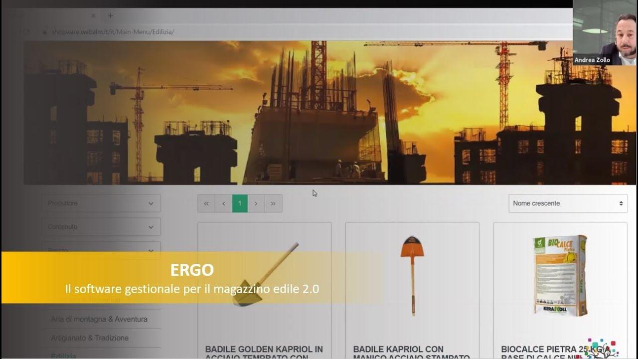 Webinar: Il magazzino edile 2.0 con ERGO