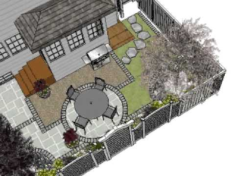 Nature's Perspective Design Backyard SketchUp - YouTube on Sketchup Backyard id=61499