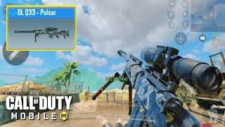DL Q33 PULSAR SNIPER SKIN GAMEPLAY in CALL OF DUTY MOBILE! 60 FPS