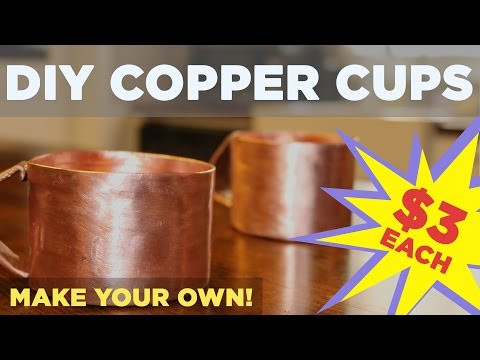 "DIY Copper Mug for Moscow Mule | Made from 3/4"" Pipe!"