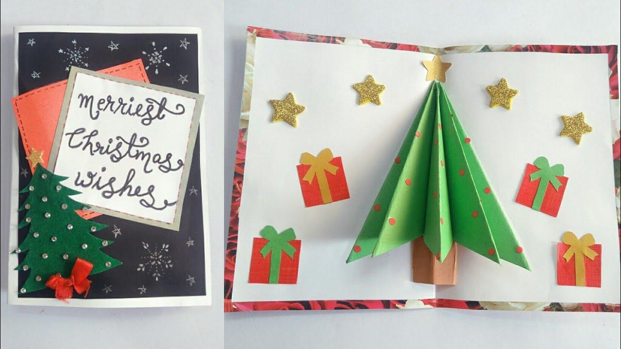 diy pop up christmas tree cardchristmas pop up card