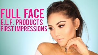 Full Face One Brand E.L.F. Cosmetics Tutorial + First Impressions | BEST & WORST E.L.F. Products!