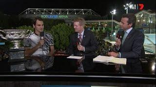Roger Federer - Interview after winning 2017 Australian Open Mens Finals