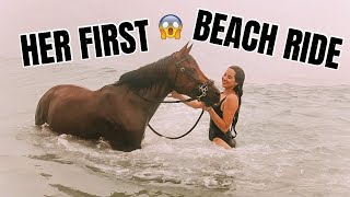 RIDING MY HORSE ON THE BEACH FOR THE FIRST TIME! 2020